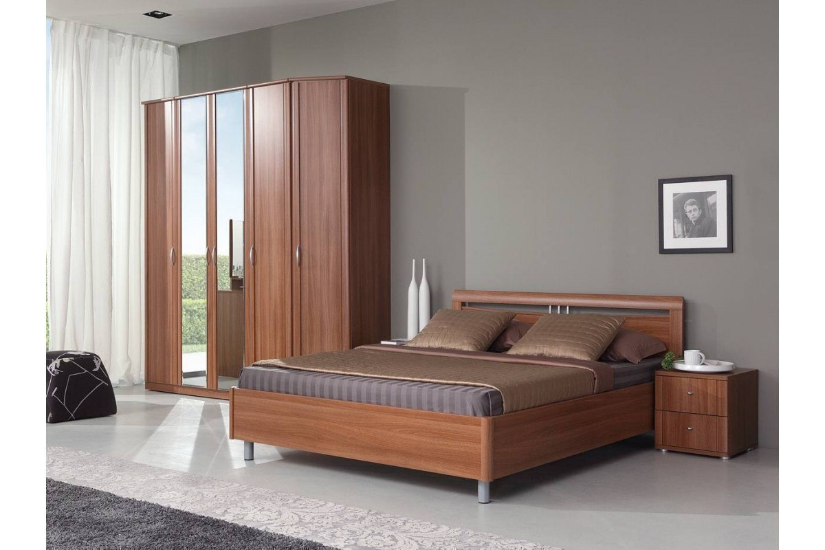 Noble alder furniture color for restricted casual bedroom design in gray