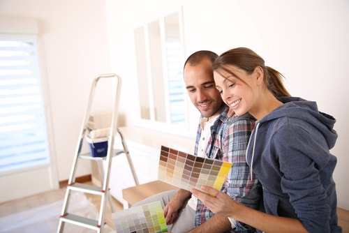 Essential Steps to Help You Plan Your Home Improvements Effectively. The couple choosing the color palette