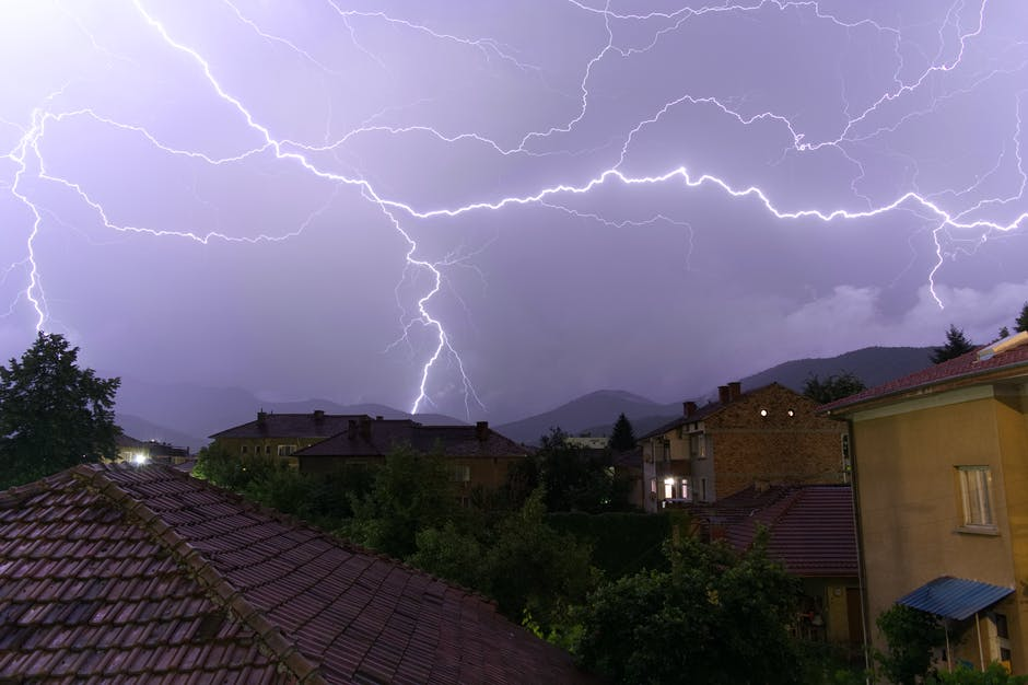 What Happens When Lightning Strikes a House. The storm over the town