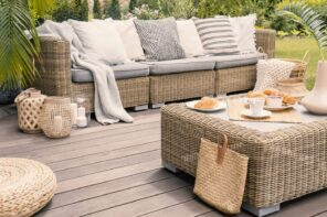 10 Things to Consider When Buying Outdoor Furniture for Your New Space. Teak furniture at the patio deck