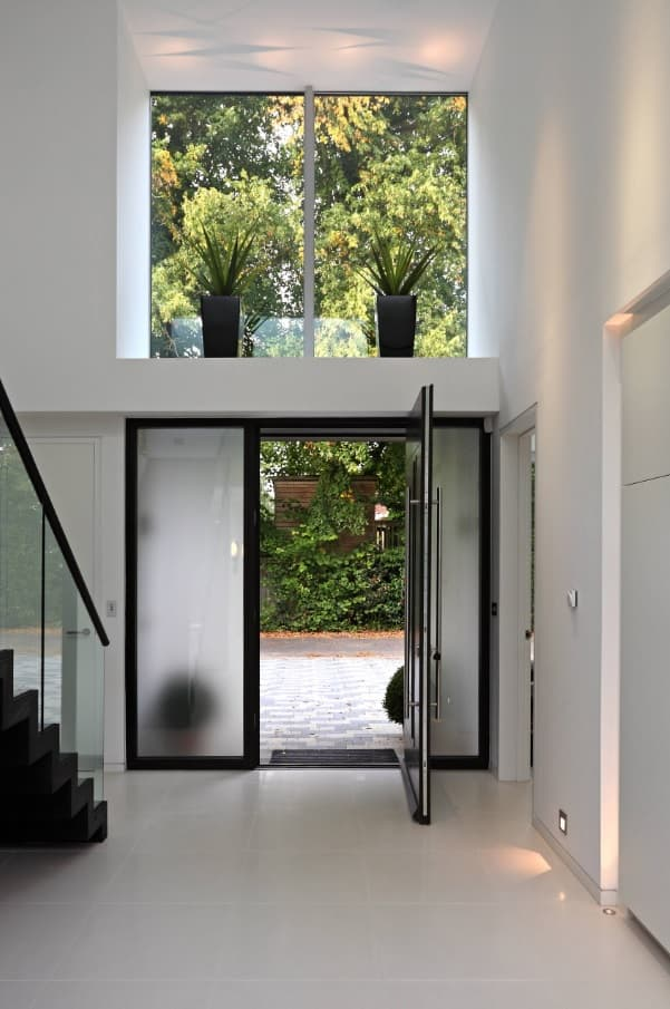 Top 15 Home Security Tips and Tricks. Matte glass Entrance door