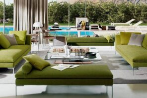 Interior Design: Professional Consultation from Cavallini1920. Great house with pool and authentic green furniture