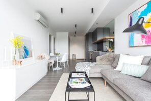 Soon to Be Timeless: 10 Current Interior Design Trends That Will Last. Studio apartment with light decorations and utmost functionality
