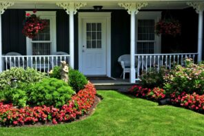 How to Update the Front of Your House to Make It More Appealing. Casual porch and dark house facade
