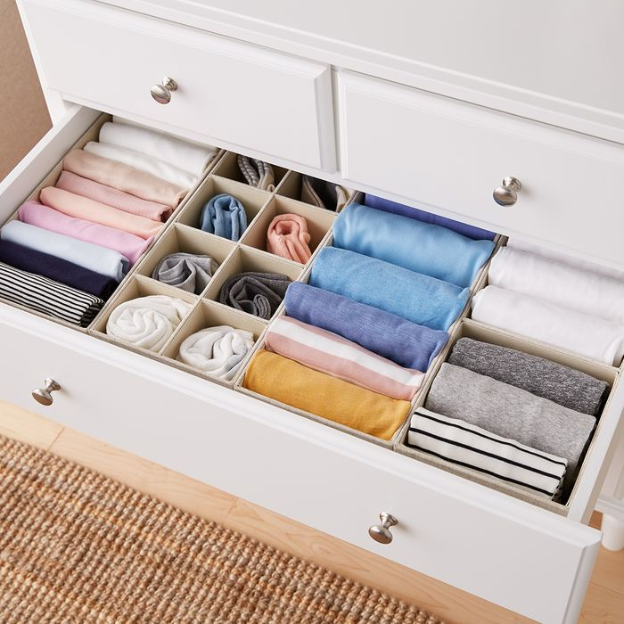 Moving Hacks That You Never Thought Of. Dresser drawers with zoned storage place inside