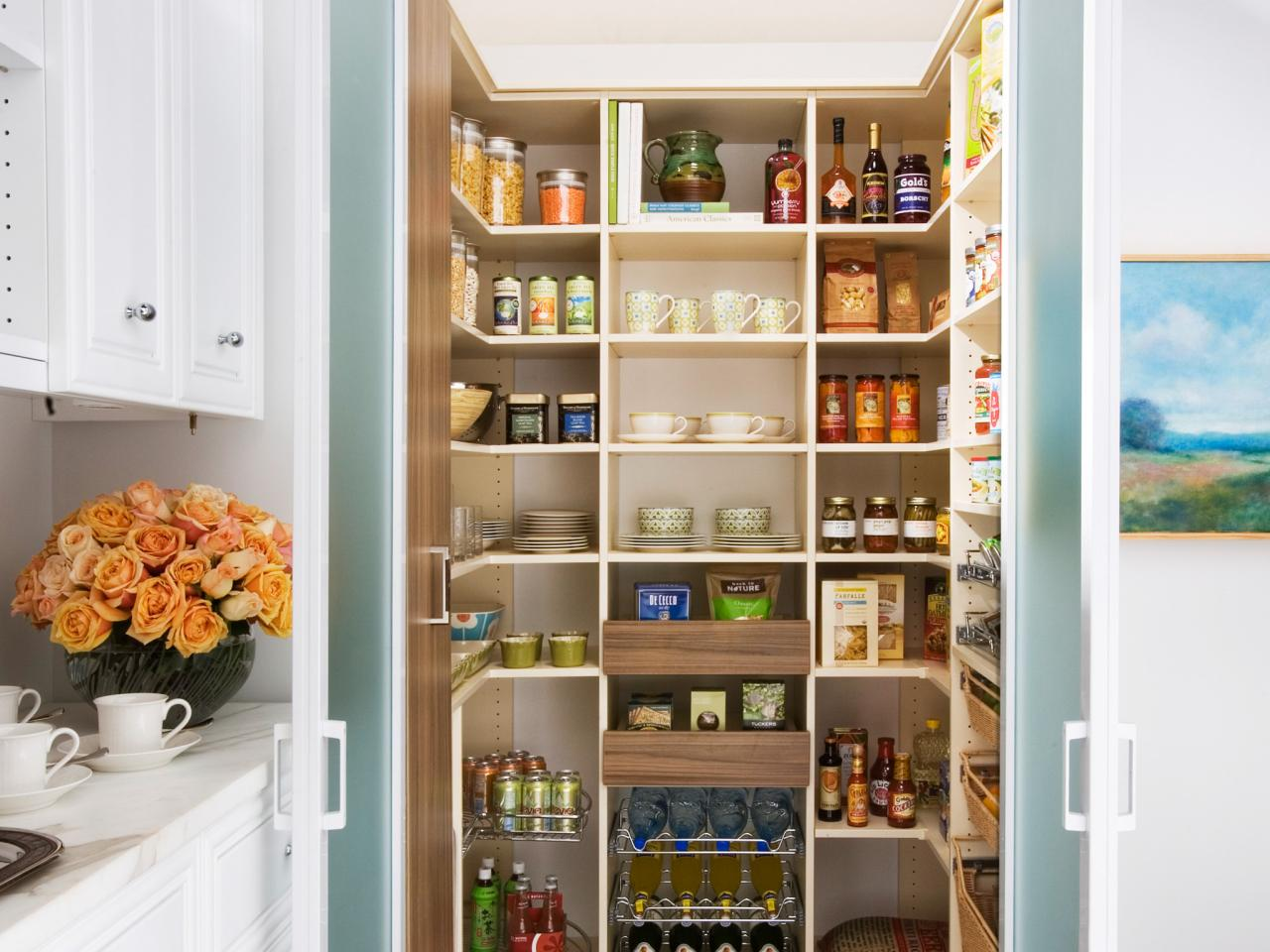 Moving Hacks That You Never Thought Of. The pantry full of canned food and other products