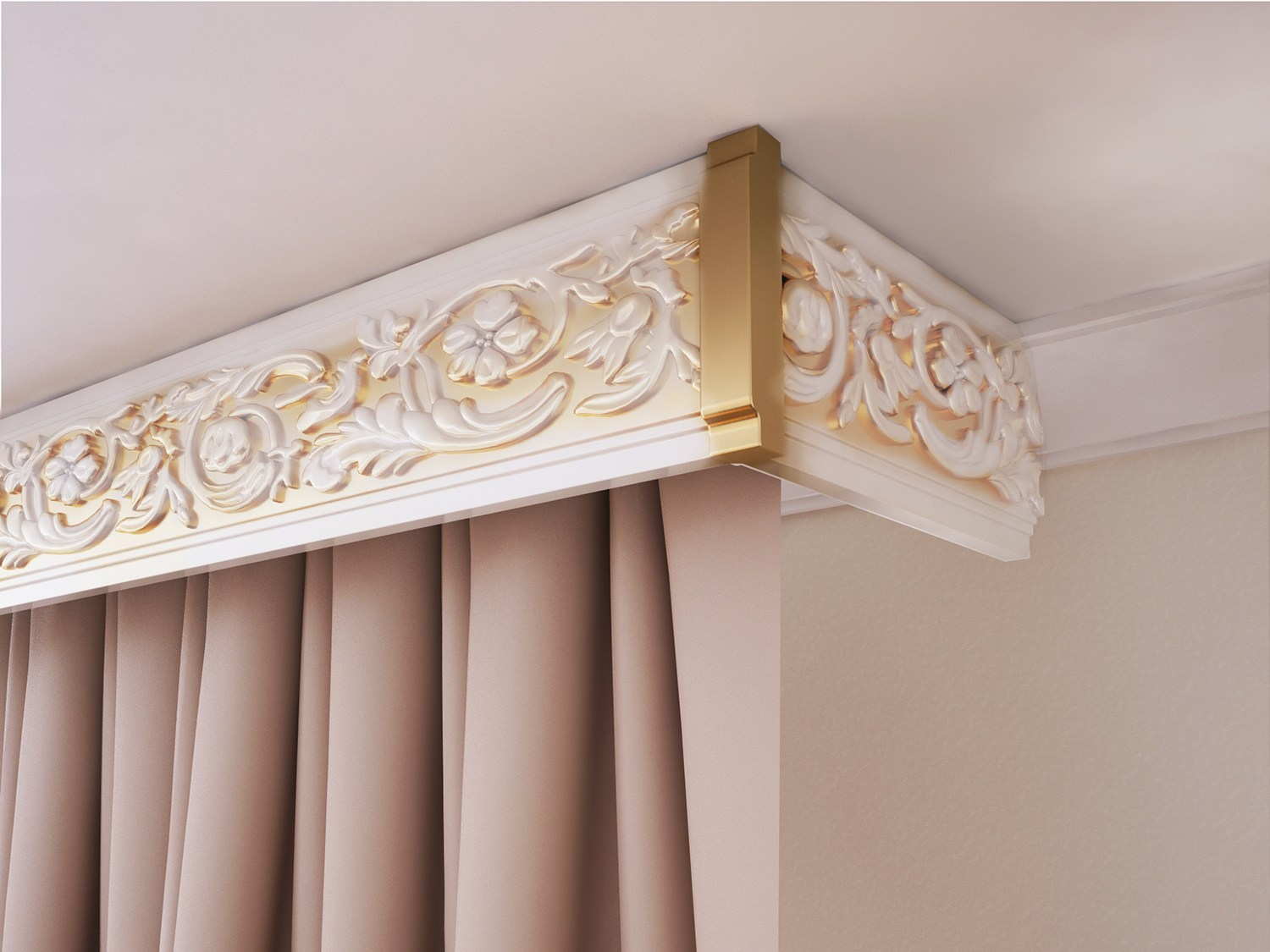 Gild painted broad plastic curtains rod