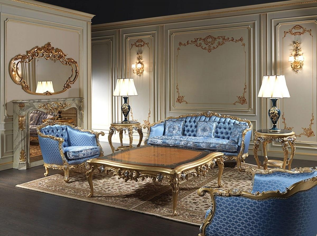 Baroque Living Room: Tips for Creating Chic Room at Home. Large gilded carved coffee table