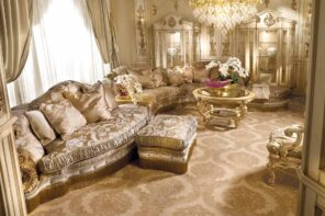 Baroque Living Room: Tips for Creating Chic Room at Home. Modern interpretation of gilden themed room with great number of decorations