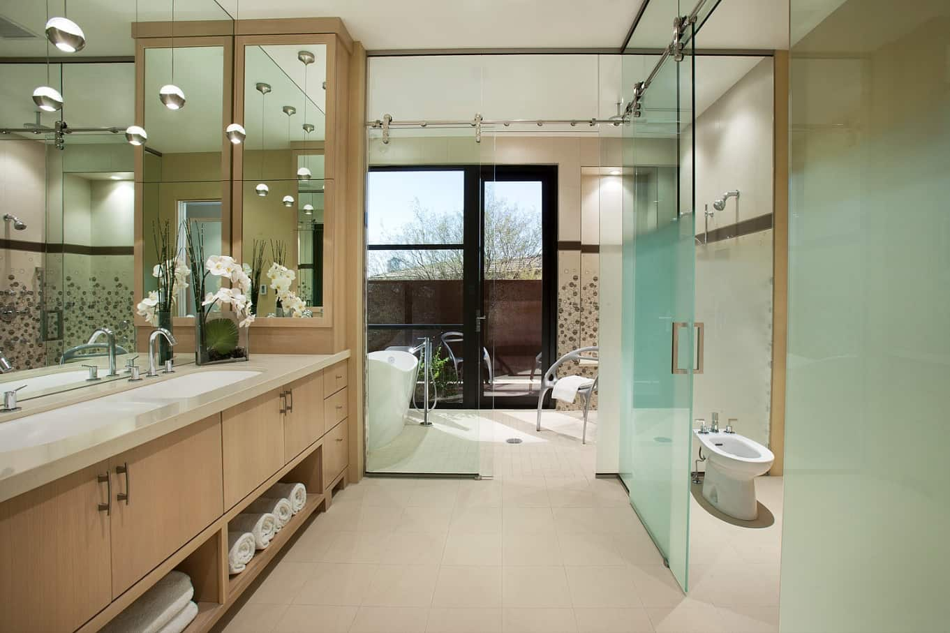The Perfect, Eco Friendly Bathroom Should Always Include A Bidet. Grandeur interior with frosted glass and huge space for creativity