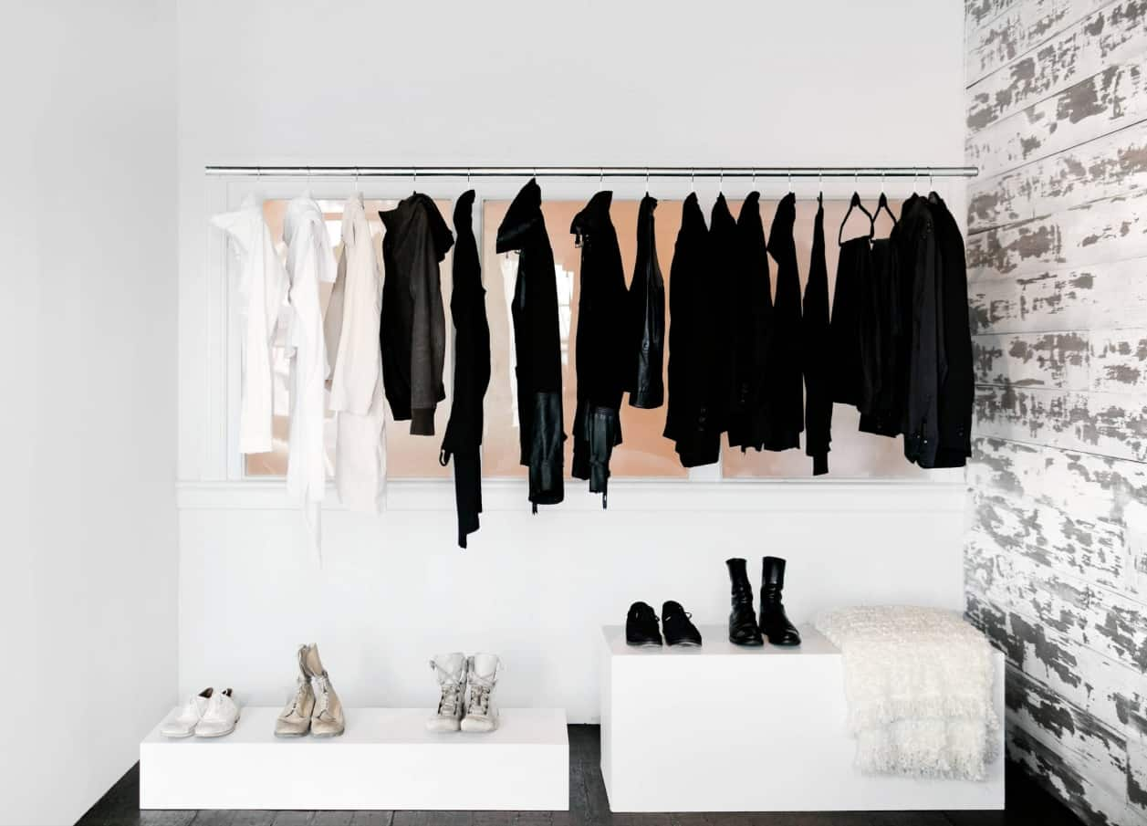 The Four Main Things You Should Consider When Designing Wardrobe. Minimalistic setting of the open space wardrobe