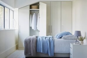 The Four Main Things You Should Consider When Designing Wardrobe. Closed design of the closet in the contemporary styled bedroom