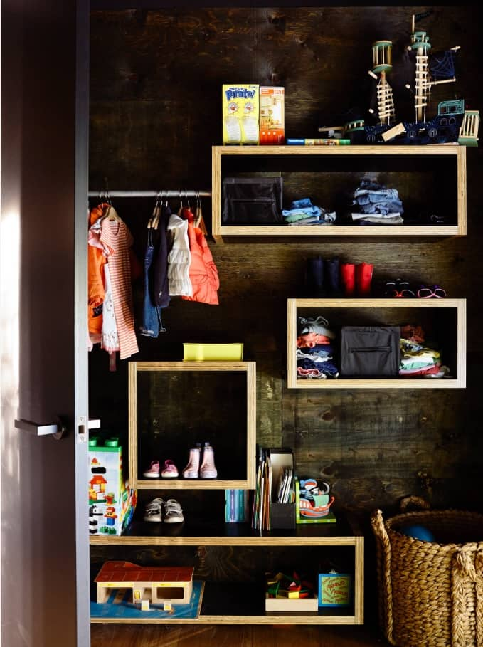 The Four Main Things You Should Consider When Designing Wardrobe. Unusually arranged inner space of the closet for personal things