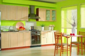 Here's How You Can Create a Sustainable and Green Kitchen. Joyful and festive kitchen interior with bright walls