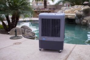 What Parts of the Country Benefit the Most From Evaporative Cooling. Mobile device at the pool