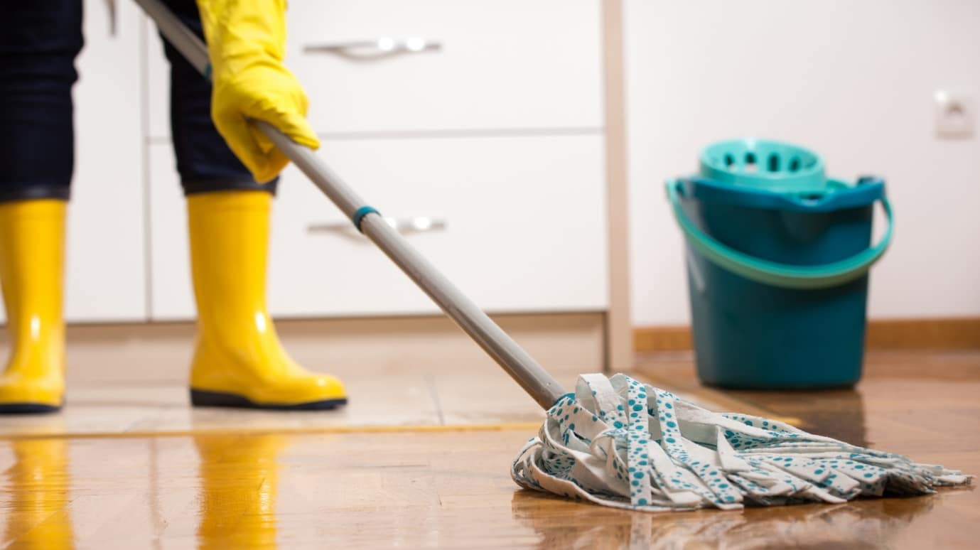So Clean and Nice: 6 DIY Floor Cleaner Recipes You Need to Try. Cleaning with the mop and respective clothes