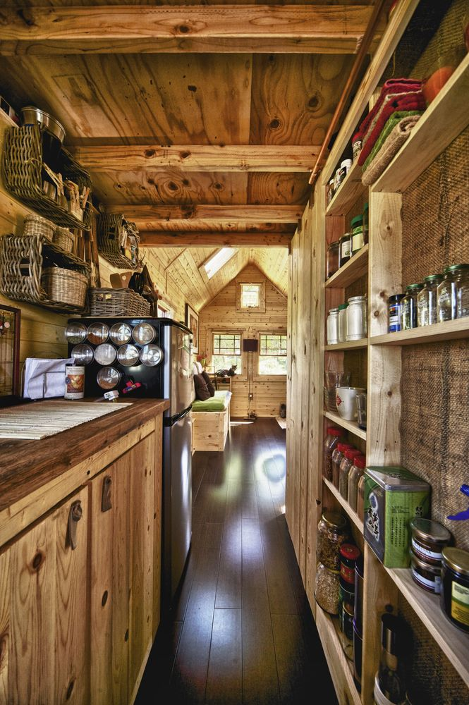Countryside style kitchen for log-cabin cottage