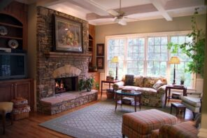 Country Style Living Room Design: Cozy and Romantic Atmosphere