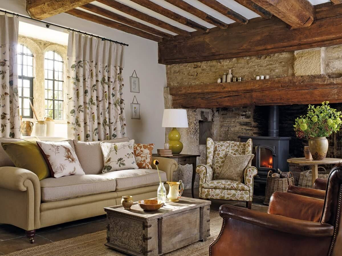 Great rustic living toom design disposing to relaxation