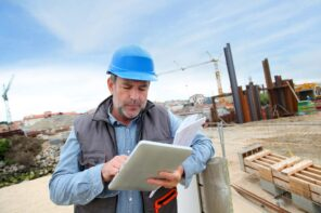 Proper Handling Tips of Building Materials in a Construction Site. Building angineer at the site