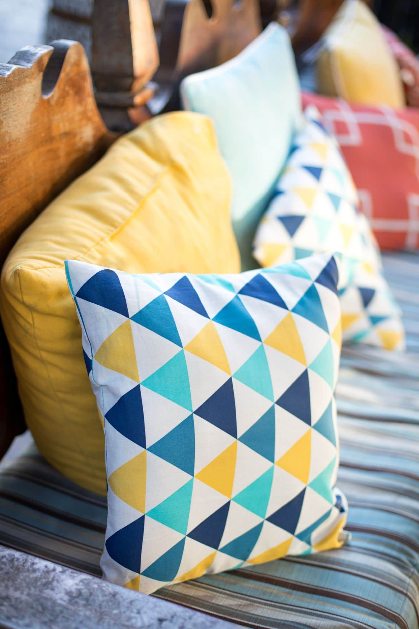 Colorful pillows for interior decoration
