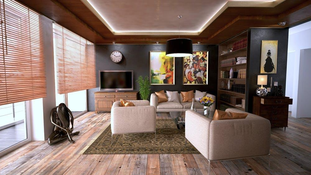 Tips for Designing Your Condo. Noble wooden ting for the whole living room in contemporary style