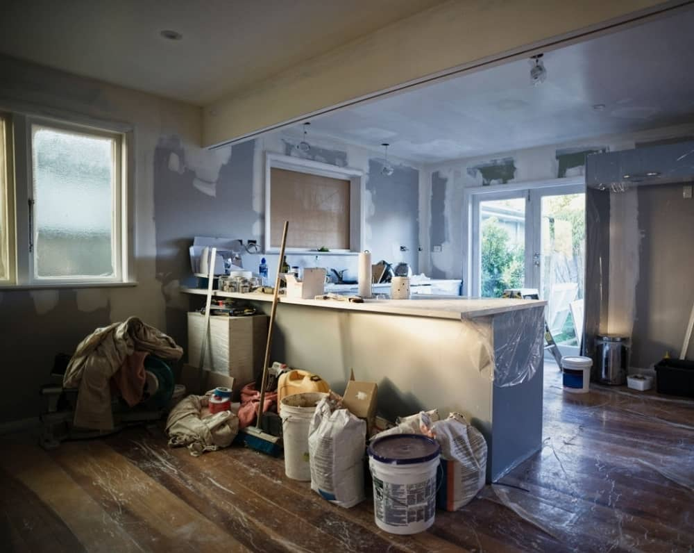 Make Your Lovely House Come To Life Again. Large classic kitchen prepared to renovation