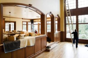 Make Your Lovely House Come To Life Again. Mild yellow painted walls and arches in the kitchen