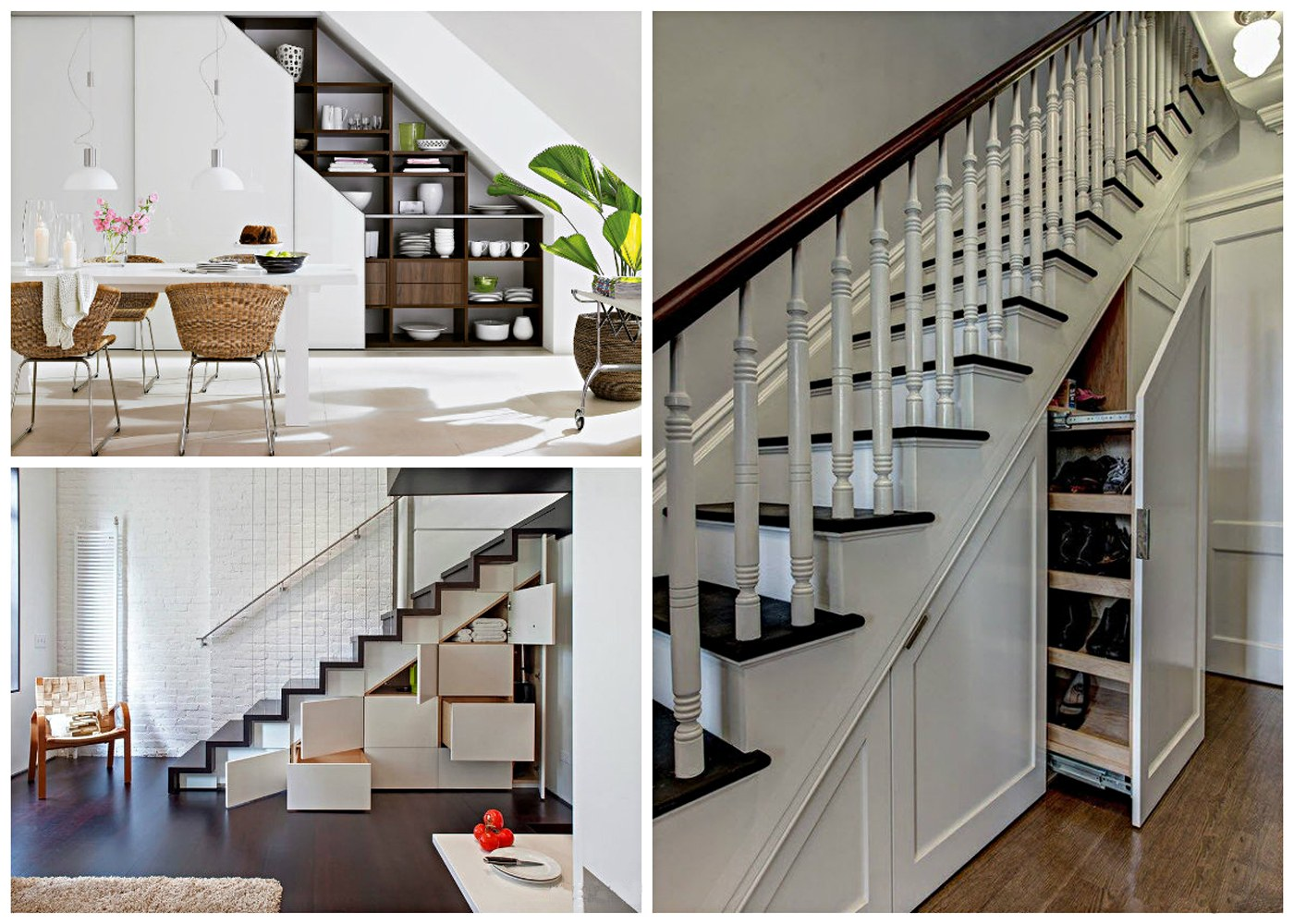Great combination of functional space under the stairs