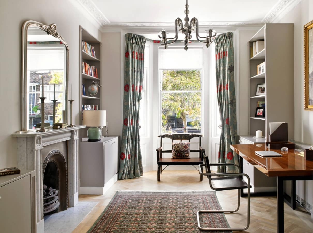 How to Get Your Home Ready for Winter. Traditional English interior with lightweight furniture and the fireplace