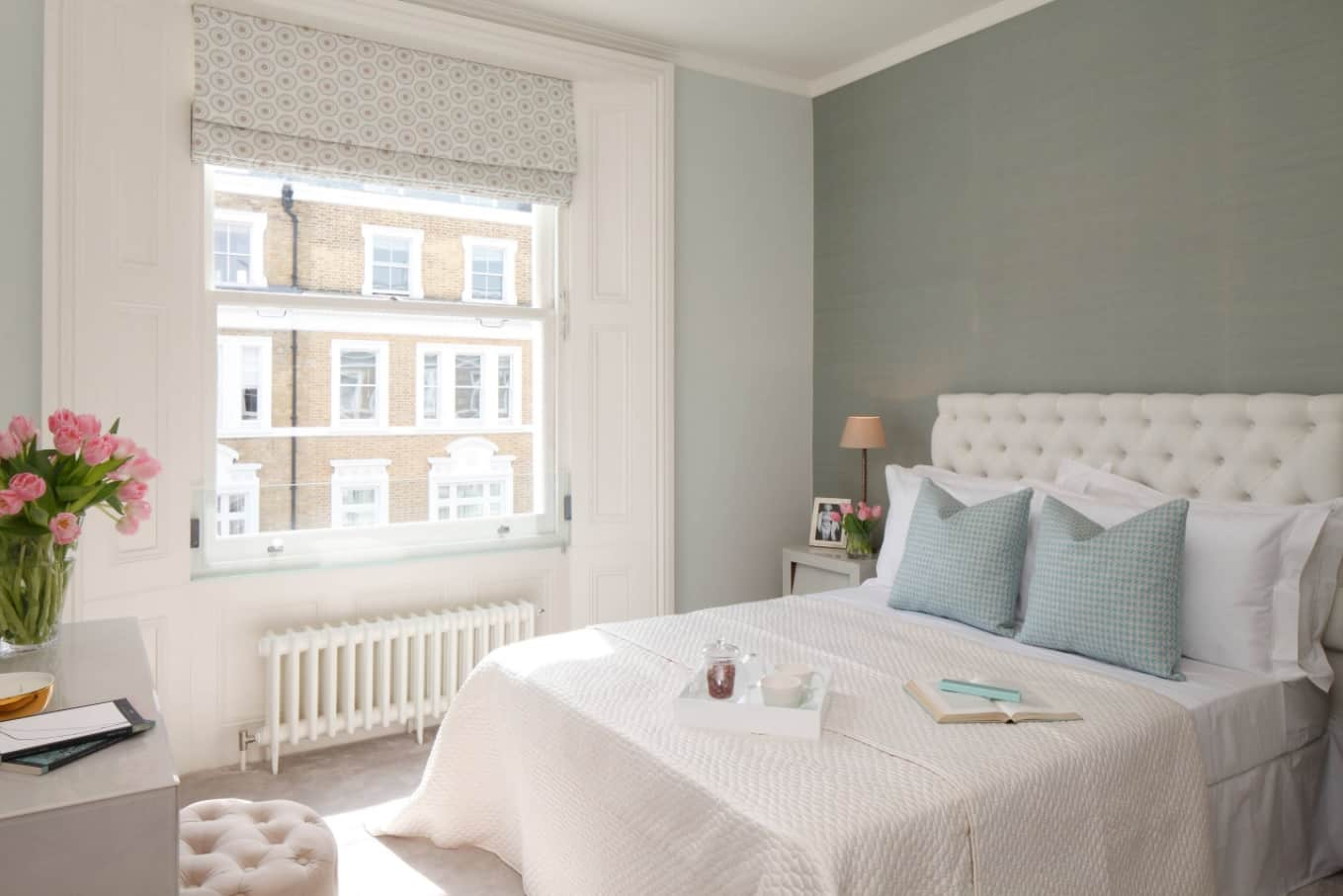 How to Get Your Home Ready for Winter. Smooth and cozy bedroom interior with pastel colored walls