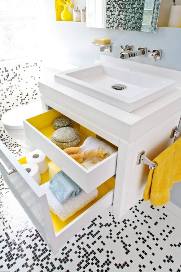 Making the Most of a Small Bathroom. Multifunctional sink for modern compact interior