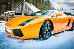 How To Store Your Vehicle in the Winter. Lambo in the village