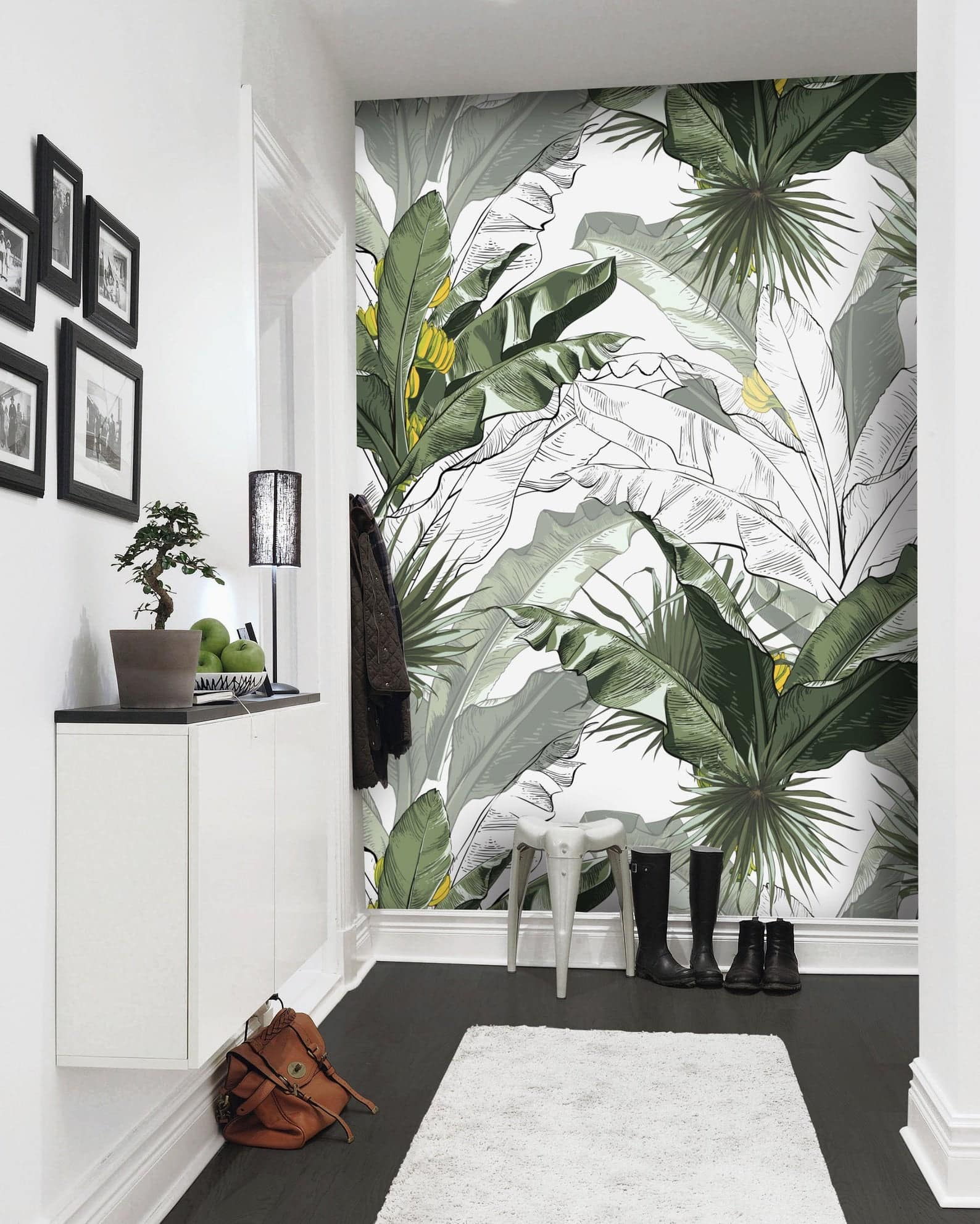 Wallpaper Design Ideas 2020 to Make Interior Elegant. Exotic Savannah greenery for modern living room