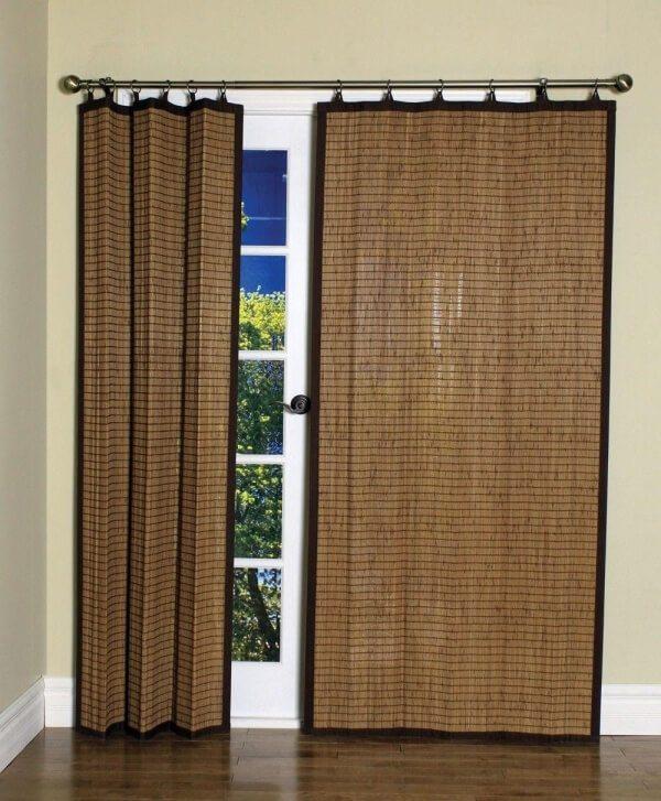 Japanese matting as a interior curtains