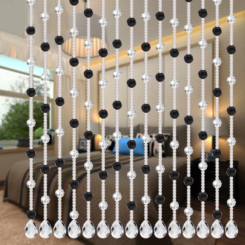 Glass beads between rooms