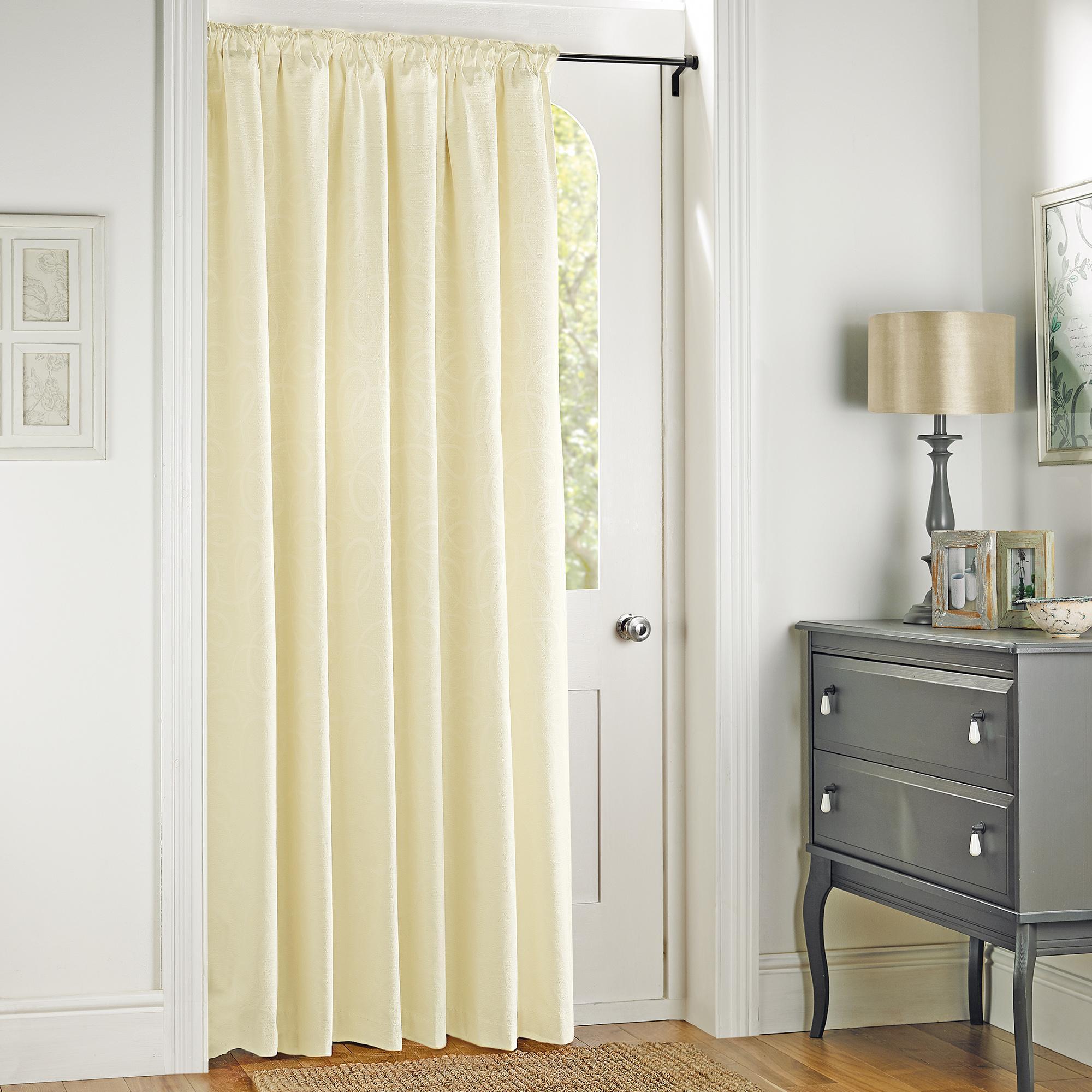 Yellow interior curtain for etrance door