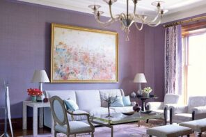 Lilac Colored Living Room: Fresh Design Ideas
