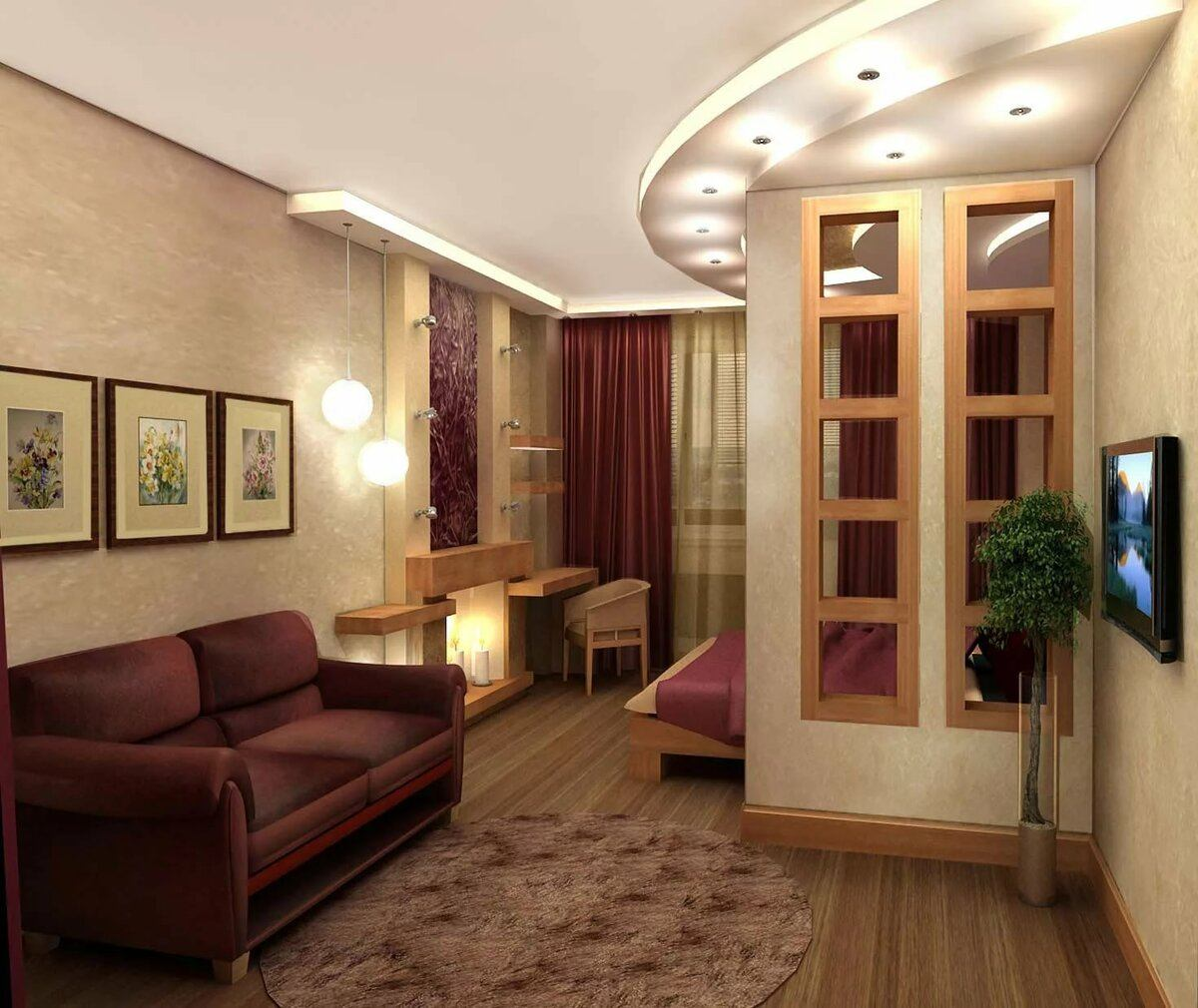 Casual designed living room in dark pastel colors