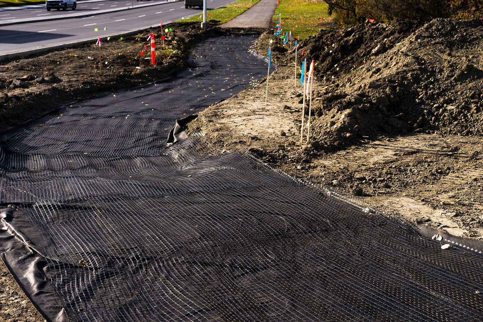 What Are Geotextiles Used For? Planning the area for installing