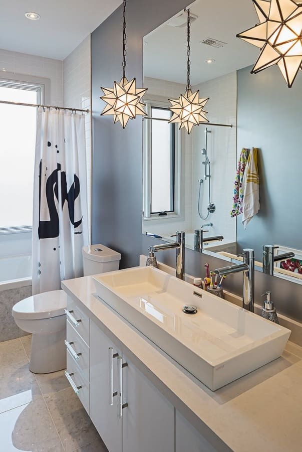 5 Ways to Improve Your Bathroom. Large sink for two can fill the space with a new impression