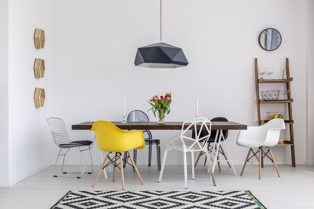 How to understand if designer chair manufacturers are selling quality products. Nice cozy minimalistic dining room with sophisticated chair group