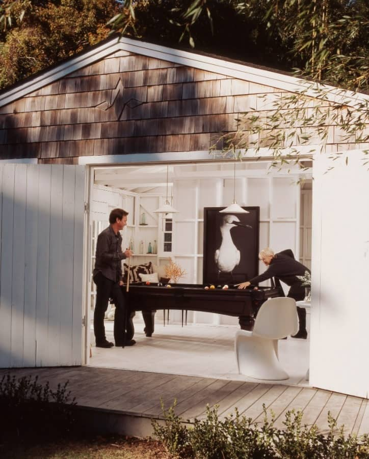 Alternative Ways to Use a Garden Shed. Pavilion for billiards