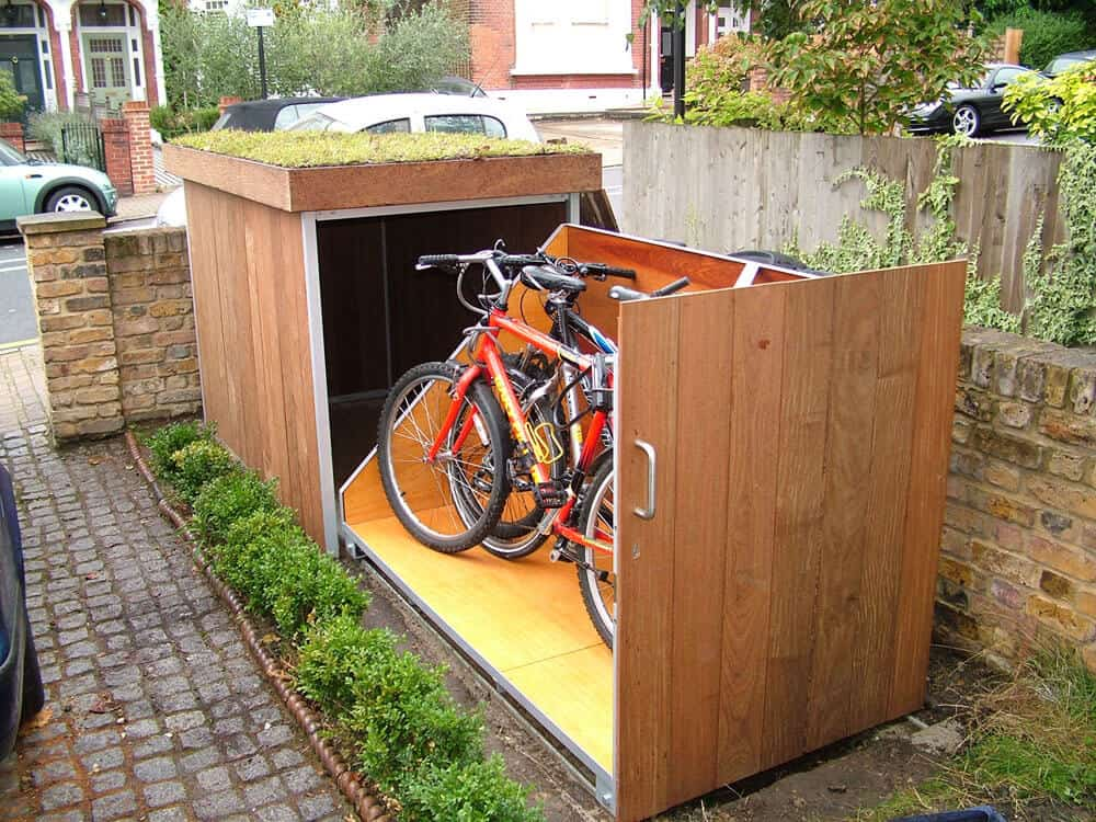 5 Steps to Select the Right Bike Shed. Foldable creative shed of wood