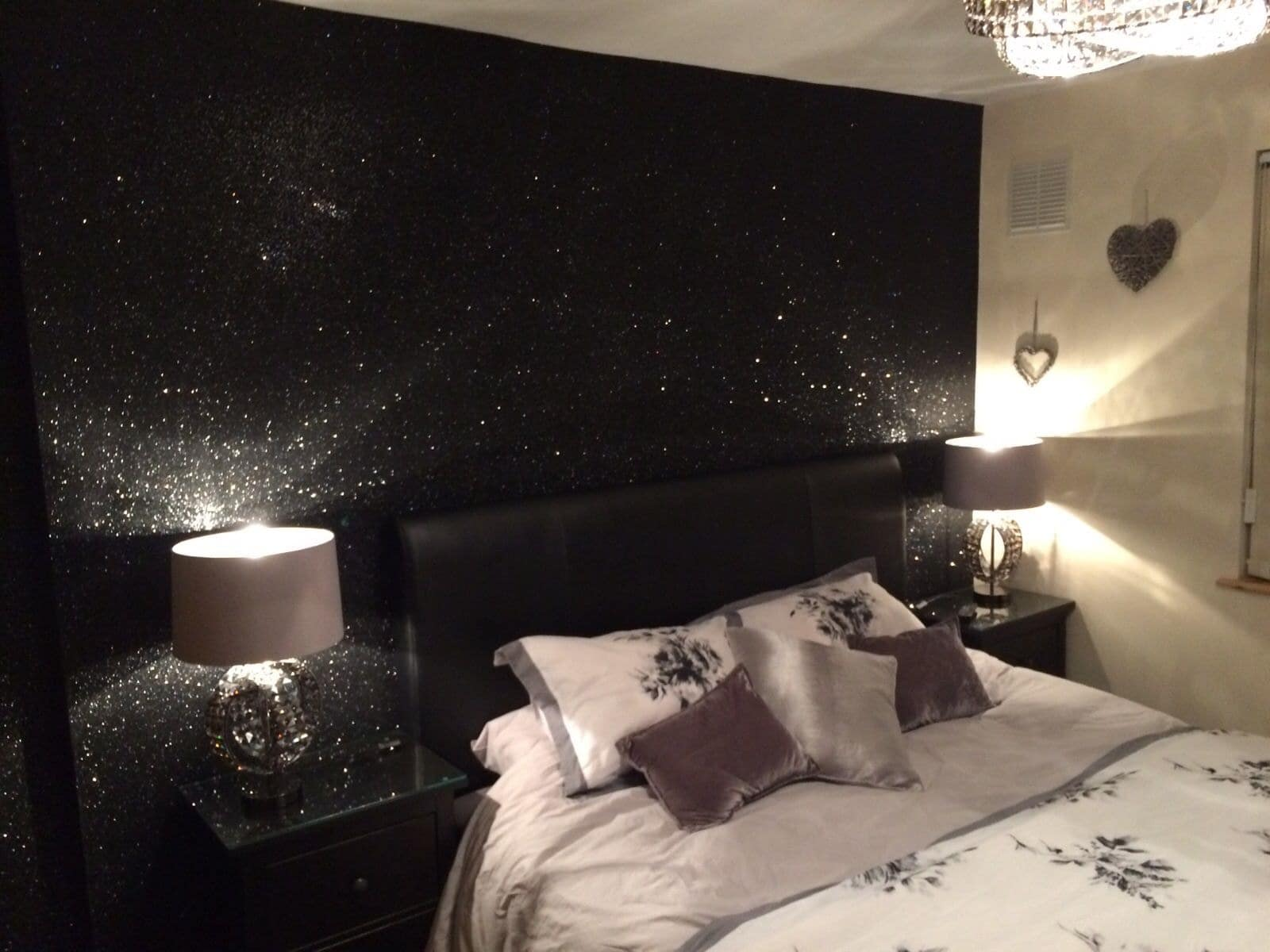 Black glitter wallpaper