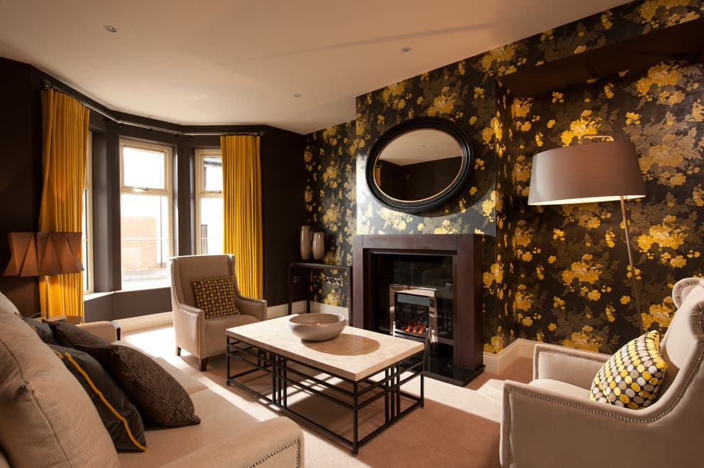 Black and yellow in the interior
