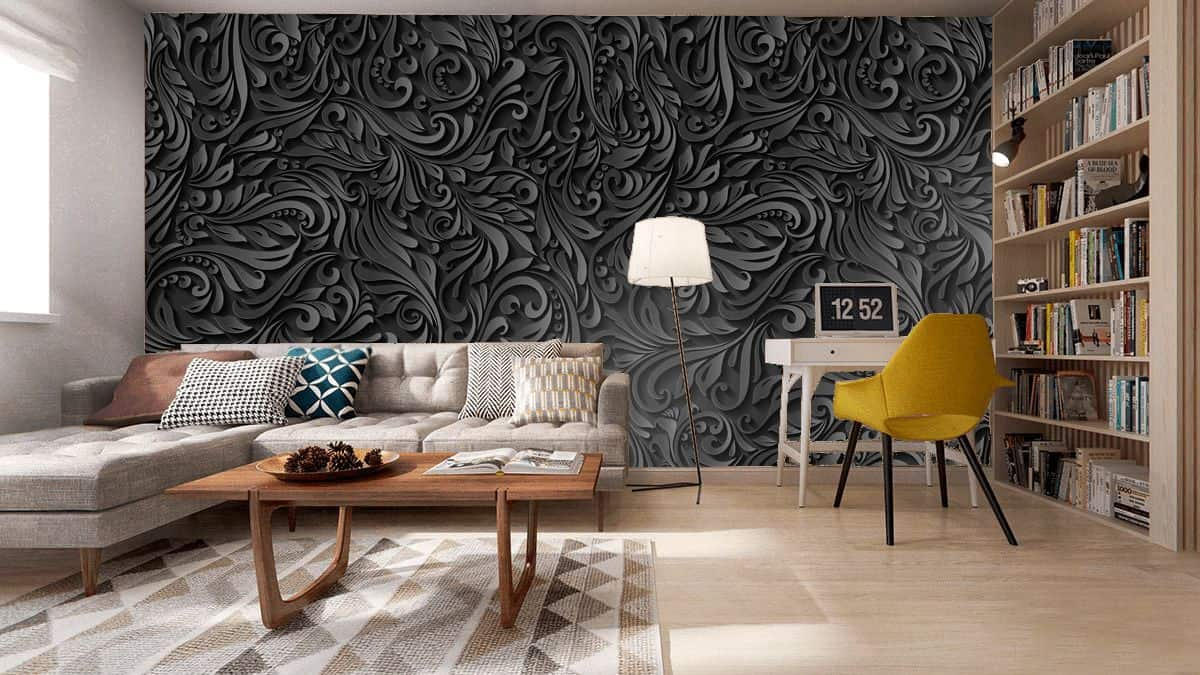 3D wallpaper with great voluminuos abstraction