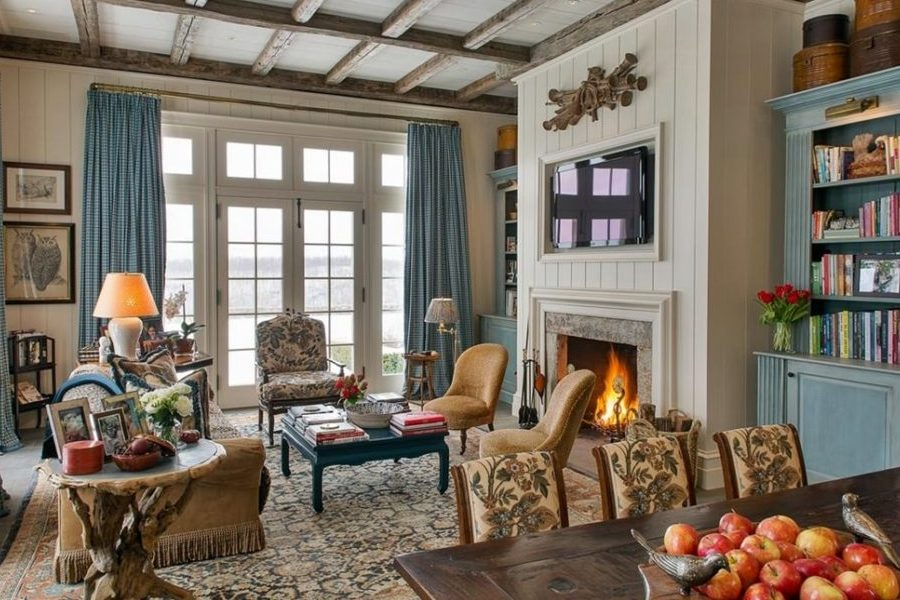 German Interior Design Style Overview and Examples. Cozy ethnic living room in light colors