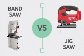 Jigsaw VS Bandsaw - Which is Perfect for Your Project? Advertising infographic