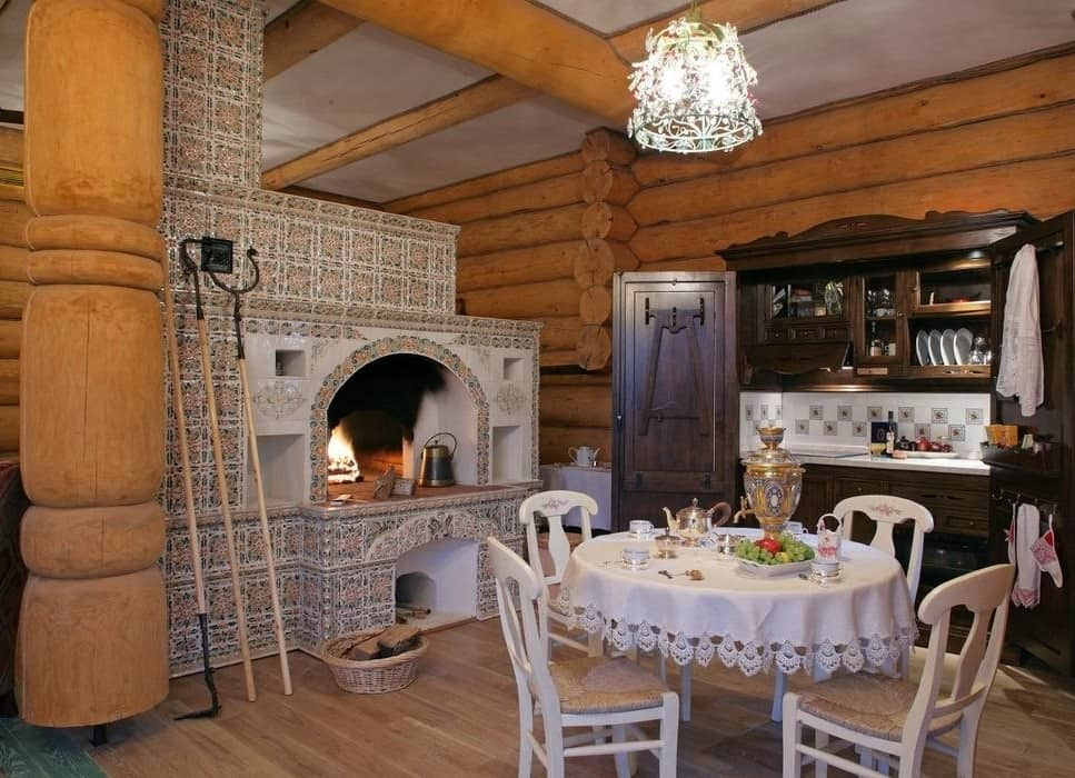 Should You Repair or Replace the Furnace? A Beginner's Guide. Traditional Russian log house with oven in the center